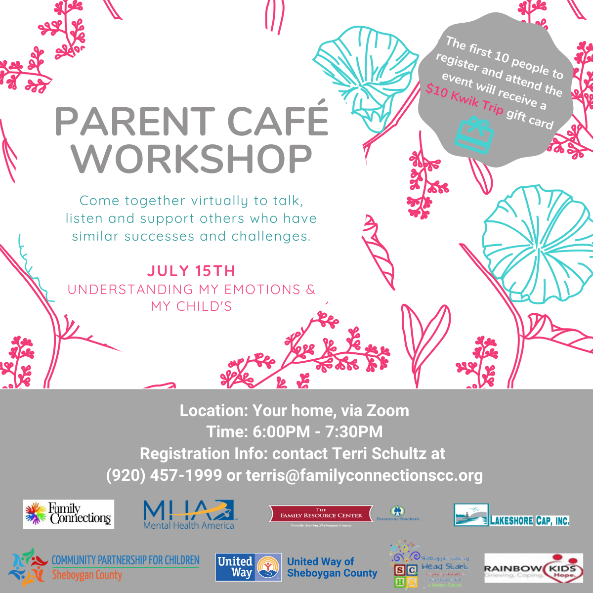 Virtual Parent Café – June and July, 2020